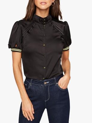 Damsel in a Dress Sholto Cuff Detail Blouse, Black