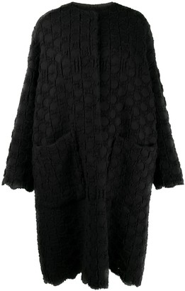 UMA WANG Textured Knit Cocoon Coat