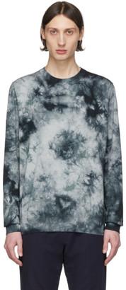 Paul Smith Black and Grey Tie-Dye Sweater