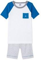 Petit Bateau Boys tricolour short pyjamas