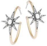 Nanette Lepore Star Open Hoop Earrings