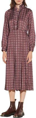 Sandro Print Long Sleeve Dress