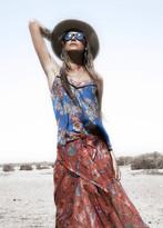 Johanne Beck - Johanne Beck Silk Printed Cami Blue Floral