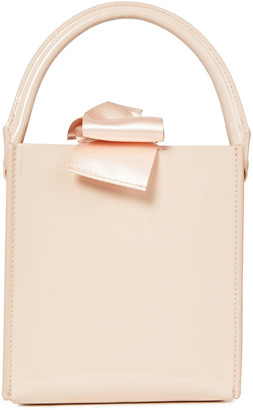 Sophie Hulme Albion Nano Satin-trimmed Patent-leather Shoulder Bag