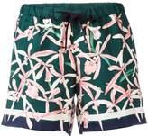 Moncler floral print shorts