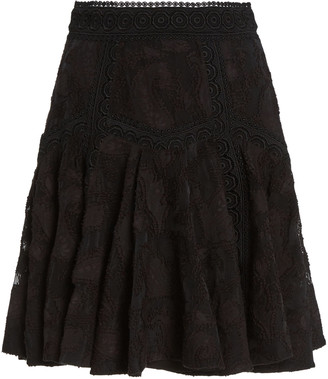Acler Godson Cotton-Blend Mini Skirt
