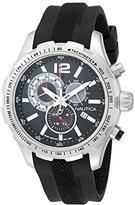 Nautica Men's NAD15512G NST 30 Analog Display Quartz Black Watch