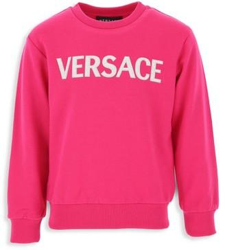 Versace Little Girl's & Girl's Logo Sweatshirt