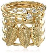 Danielle Nicole Holding Back Cage Stackable Ring, Size 7