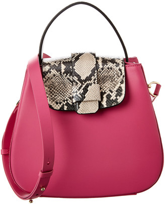 Nico Giani Myria Flap Closure Leather Shoulder Bag