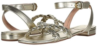 J.Crew Braided Lucy Cross Strap (Pale Gold) Women's Sandals