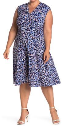 Vince Camuto Cap Sleeve Jersey Knit Dress (Plus Size)