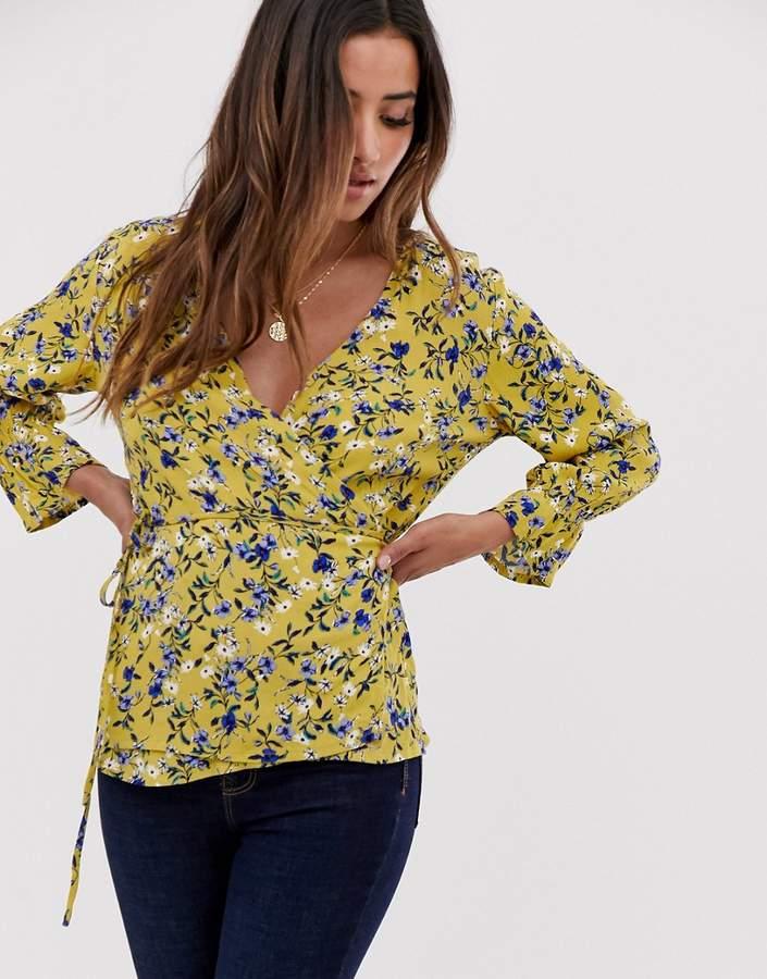 MBYM floral wrap blouse