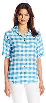 G.H. Bass & Co. Women's Rayon Buffalo Check Shirt