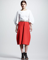 Jil Sander Four-Panel Pique Skirt