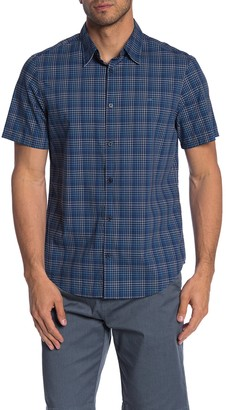 Calvin Klein Plaid Short Sleeve Regular Fit Shirt