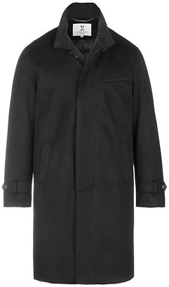 Norwegian Wool Pure Cashmere Down Topcoat