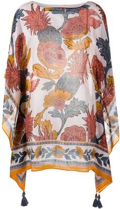 Tory Burch Floral Print Kaftan Top