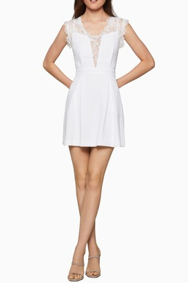 BCBGeneration Lace Back Fit & Flare Dress