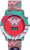 DC COMICS DC Comics Batman vs. Superman Wonder Woman LCD Rotating Flash Dial Strap Watch