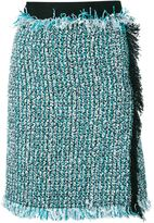 Lanvin bouclé wrap skirt - women - Silk/Cotton/Acrylic/Wool - 38