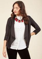 ModCloth Marketing Maven Blazer in Black in S