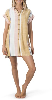 Rip Curl Sunsetters Stripe Mini Shirtdress