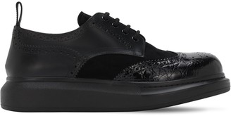 Alexander McQueen Brogue Leather Lace-up Shoes