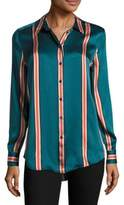 Equipment Essential Striped Silk Blouse