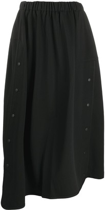 Y-3 button front A-line skirt