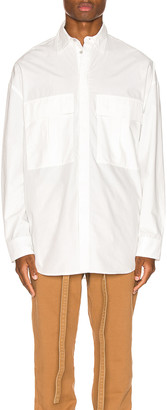 Fear Of God Long Sleeve Button Up in White | FWRD