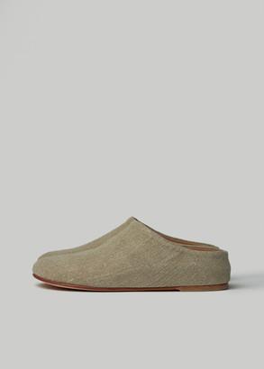 LAUREN MANOOGIAN Women's Burlap Mono Mule Shoes in Linen Size 36