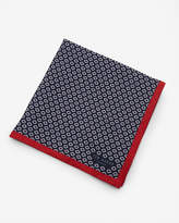 Geo Print Linen Pocket Square