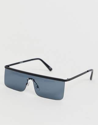 Design DESIGN visor sunglasses with black frame with smoke lense