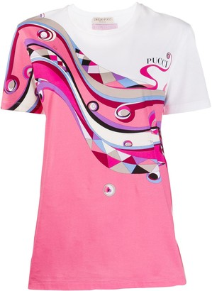 Emilio Pucci abstract print T-shirt