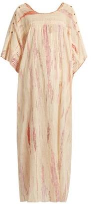 Mafalda Von Hessen - Spotted Stripe-print Cotton Dress - Pink Multi