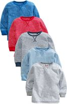Next Multi Long Sleeve Essential Tops Five Pack (3mths-6yrs)