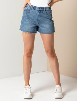 Forever New Isla Mid-Rise Shorts - LA Blue - 10
