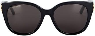 Balenciaga Oversized Round Logo Sunglasses