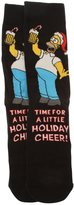 The Simpsons Mens Homer Simpson Novelty Christmas Socks (1 Pair)