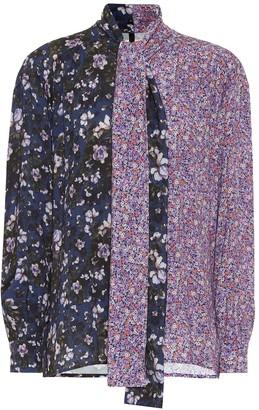 Unravel Floral tie-neck blouse
