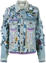 Faith Connexion hand-painted graffiti denim jacket - women - Cotton - XS