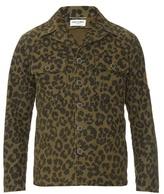 Saint Laurent Camouflage Leopard-print Field Jacket