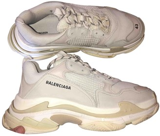 Balenciaga Wmns Triple S Trainer White Navy Purple Goat