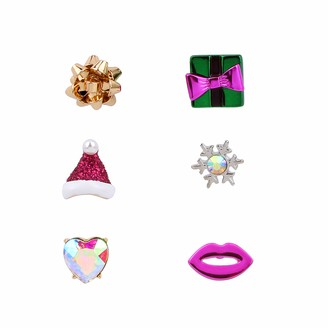 Betsey Johnson Festive Present Single Stud Earrings Set