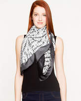 Le Château Lightweight Abstract Print Scarf