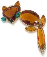 Trina Turk Fox Brooch Pin