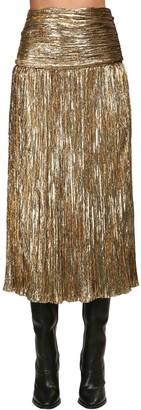 Saint Laurent Lurex Velour Midi Skirt