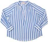 Striped Cotton & Silk Blend Muslin Shirt