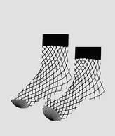 New Look 2 Pack Black Fishnet Ankle Sock
